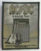 AC/DC - 'In Rock We Trust' Woven Patch